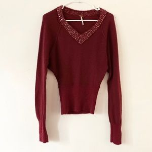 Free People Sequin Sweater XS